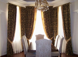 шторы для гостиной и столовой от студии штор Gardina в Кишиневе. draperii chisinau